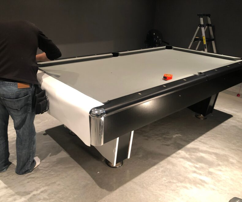3 M Di Noc Wrapped Pool Table Installation1