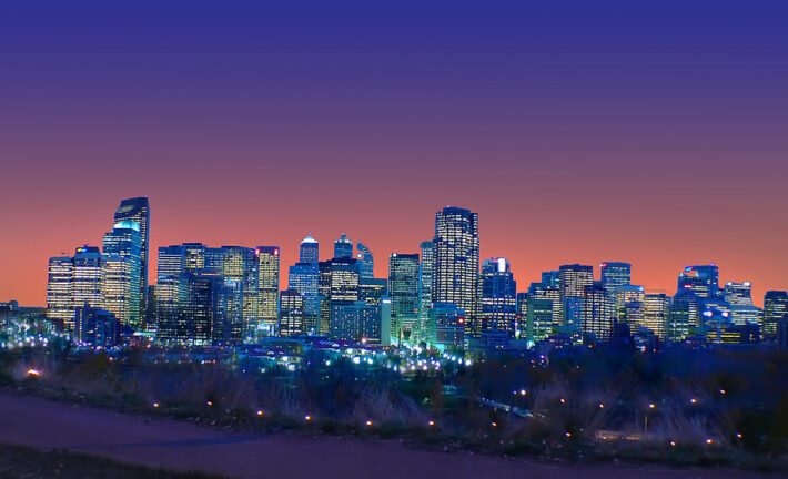 Night Time In Calgary