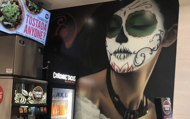 Awesome Wall Graphics at Chronic Tacos!