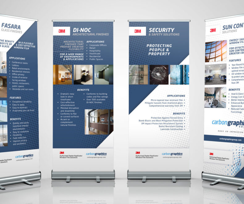 Carbon Graphics Pull Up Banners