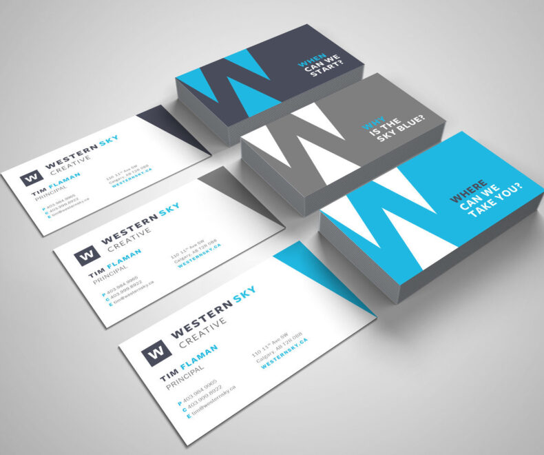 Western Sky Business Cards