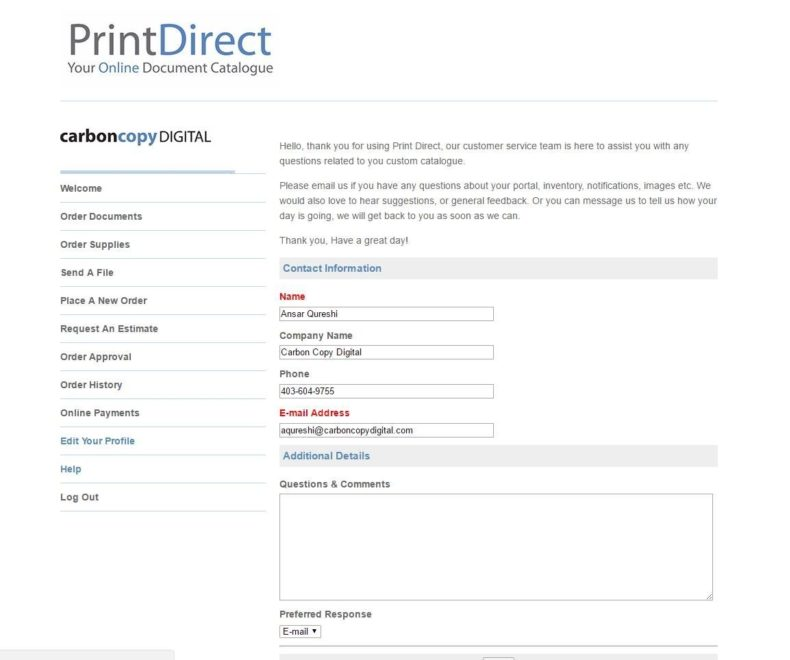 Print Direct Your Profile