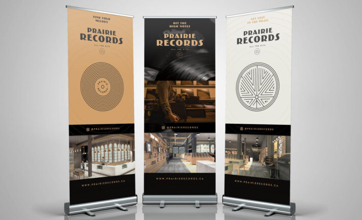 Prarire Records Pull Up Banners