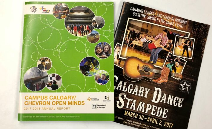 Calgary Dance Stampeded Saddle Stitched Booklets